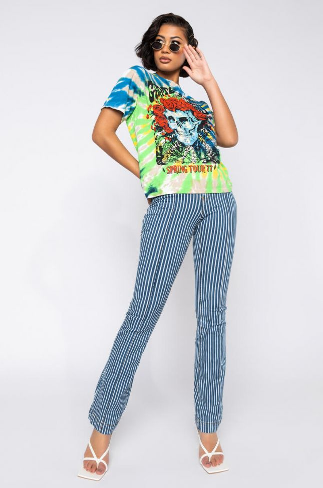 Full View Daphne High Waisted Flare Jeans  in Blue Multi