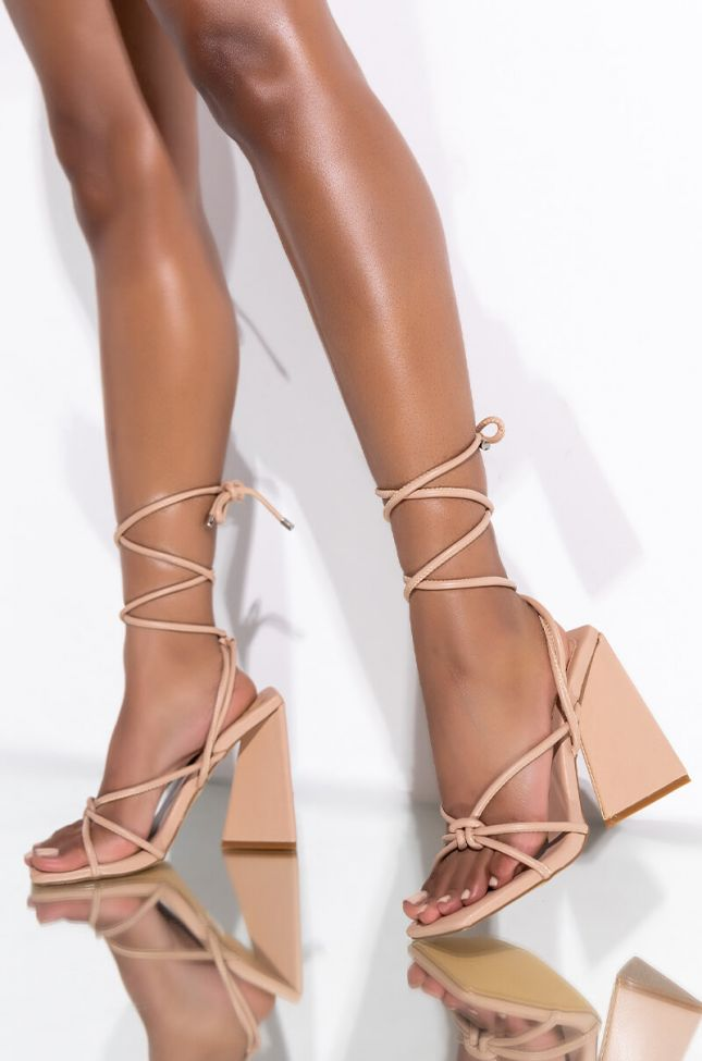 Front View Date Night Chunky Sandal