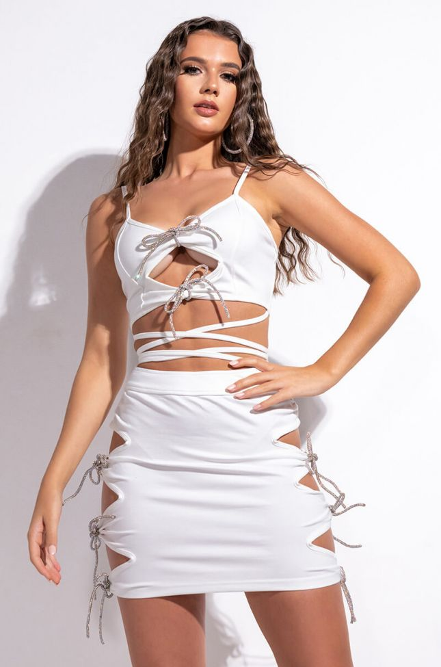 Front View Day And Night Slay Bandeau With Rhinestone Trim