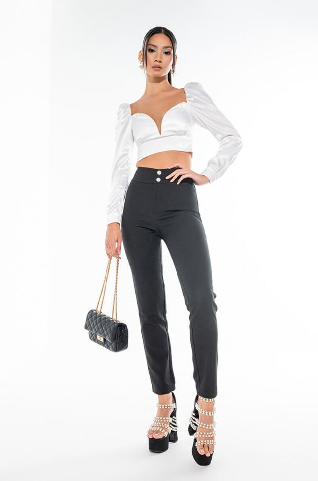 DINNER AND MOVIE HIGH RISE PANT