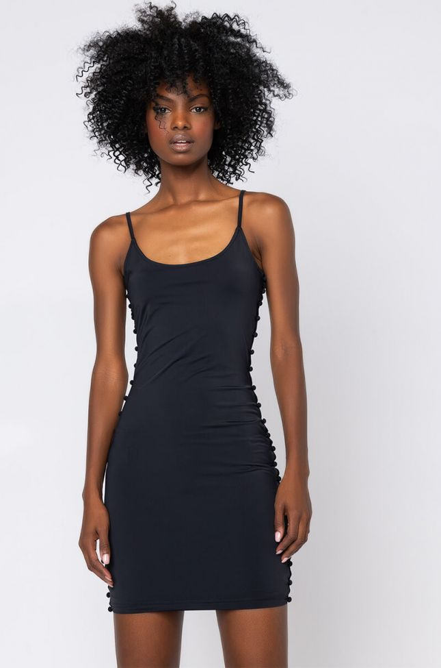 Front View Dont Be Fooled Mini Dress in Black