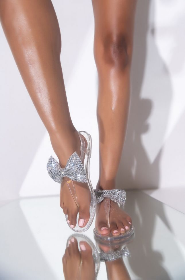 Front View Dont Phase Me Flat Sandal in Silver
