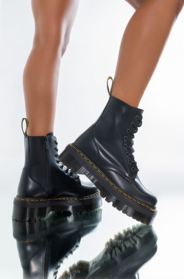 Front View Dr Marten Jadon Polished Smooth Bootie