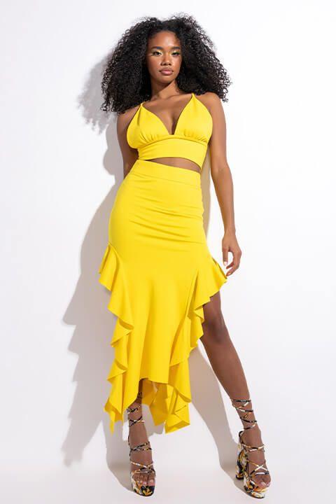 Full View Dynasty Ruffle Detail Skirt