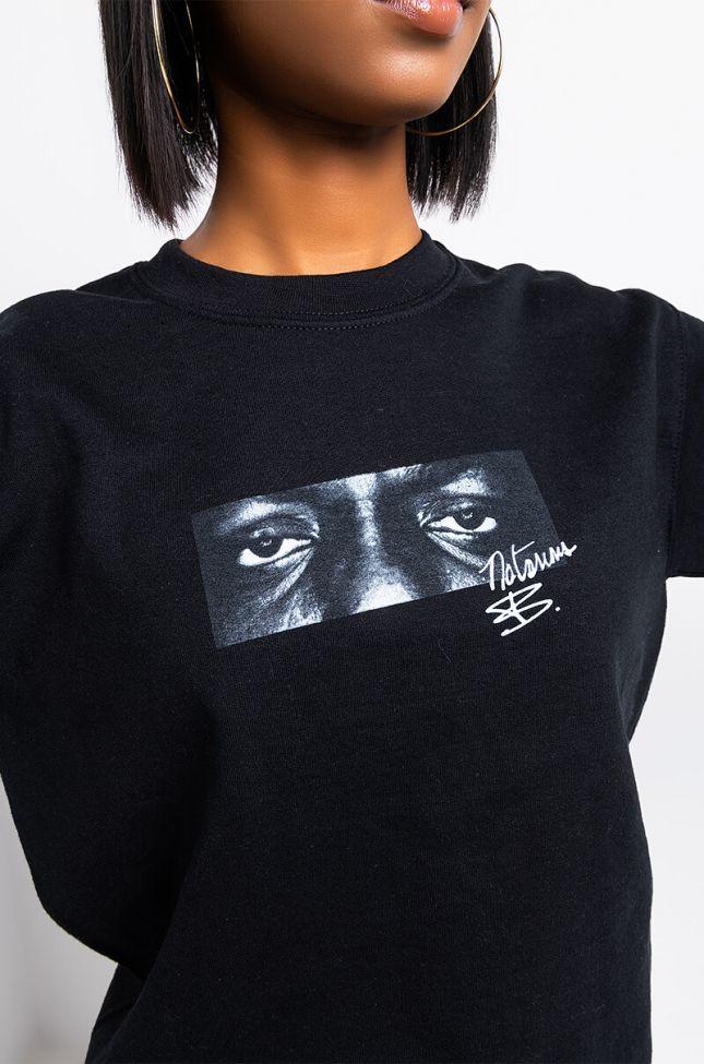 Detail View Eyes On Me Sweatshirt in Black