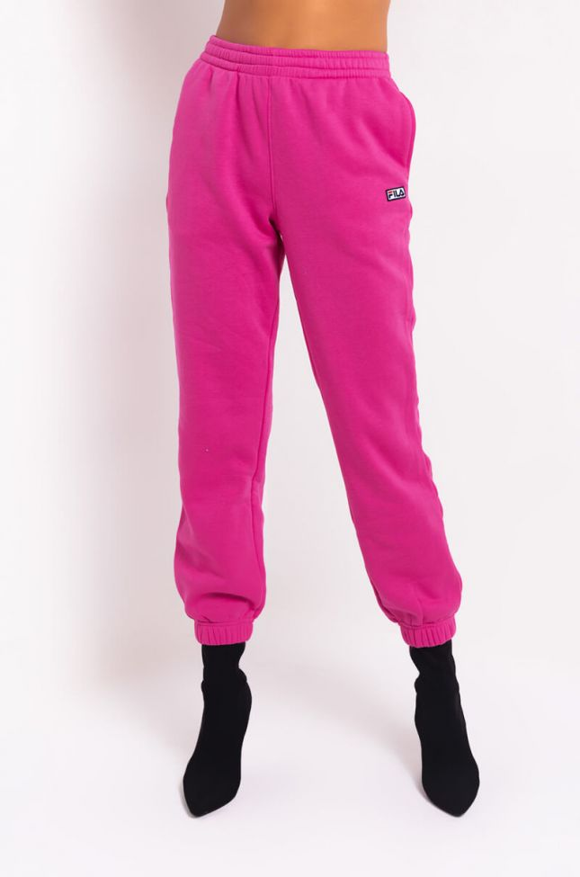 Front View Fila Lassie Jogger in Pink