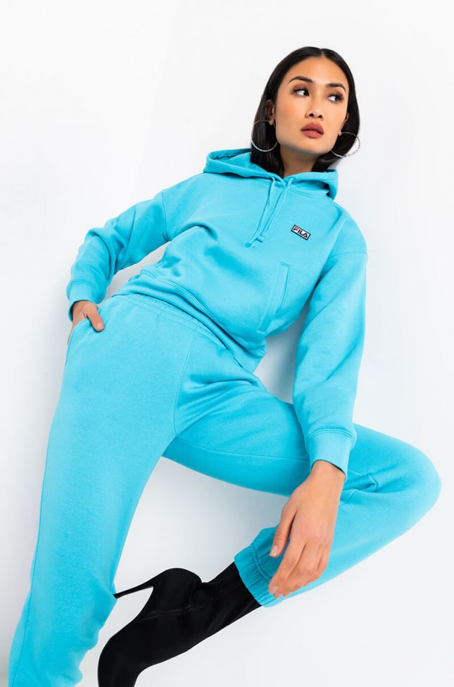 Front View Fila Marina Hoodie in Blue