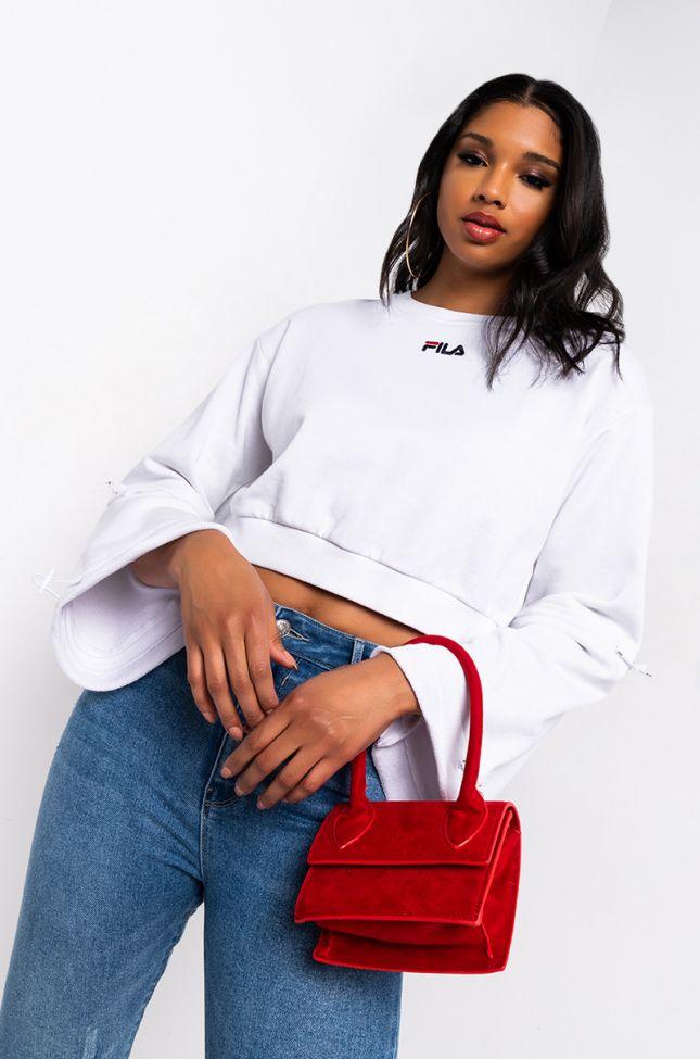 Front View Fila Womens Vedi Sweatshirt in White
