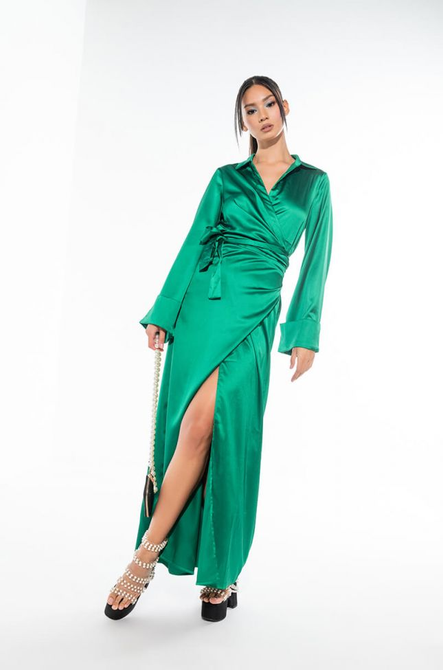 FINE TIME MAXI DRESS WITH HIGH SLIT