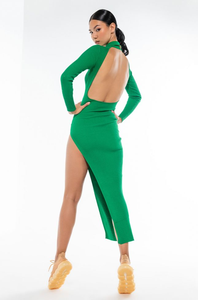 FOR YOU MIDI DRESS WITH HIGH SLIT