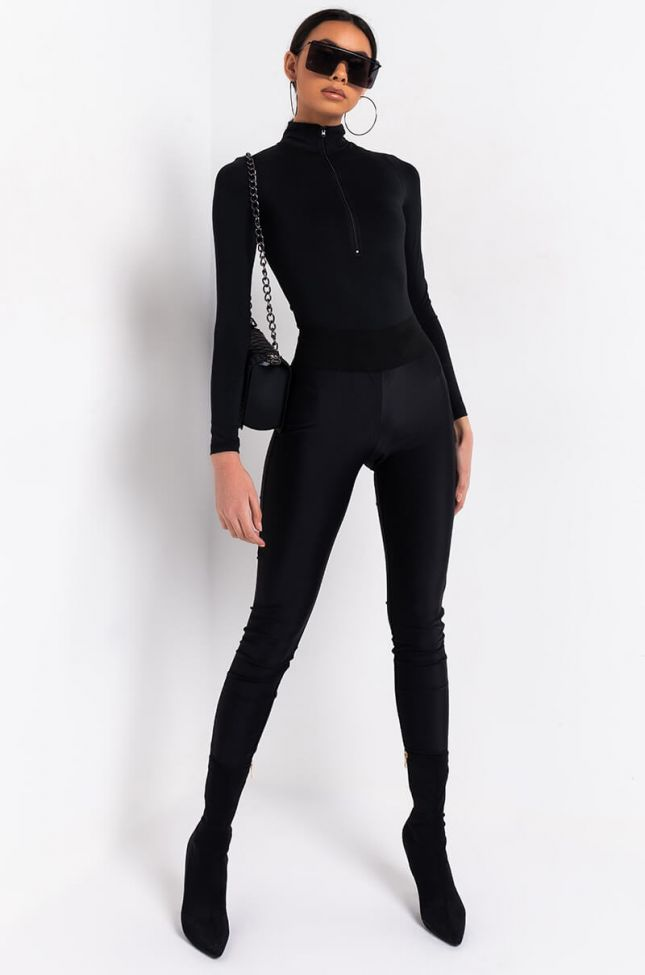 Full View Get Hands On High Waisted Leggings in Black