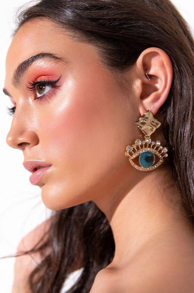 Front View Grecian Glare Dangle Earrings
