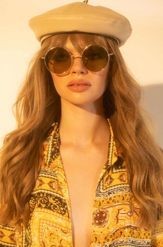 Front View Groovy Baby Circle Sunnies