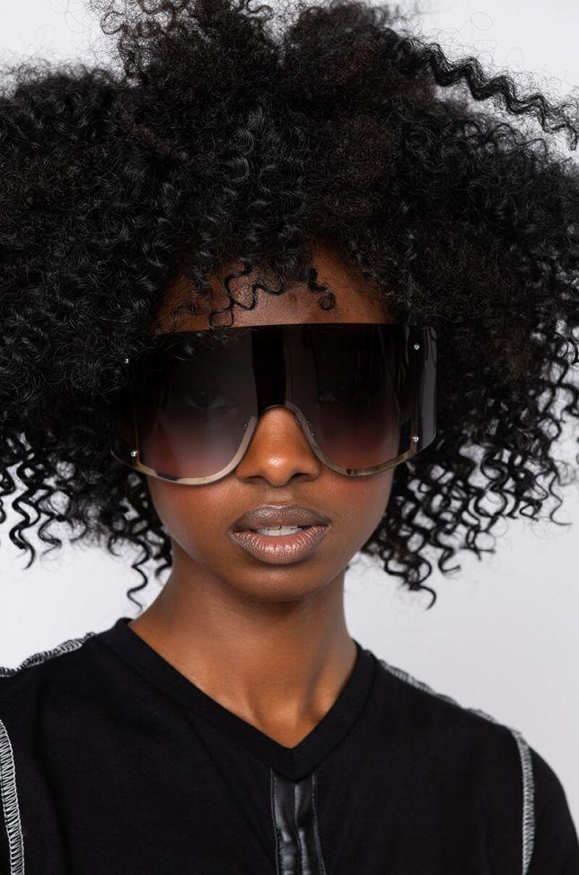 Front View Hater Blockers Shield Eyewear in Black Multi