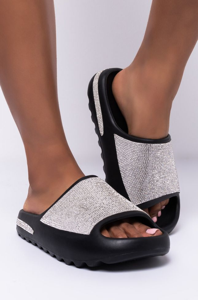 Side View High Hopes Slip On Sandal in Black