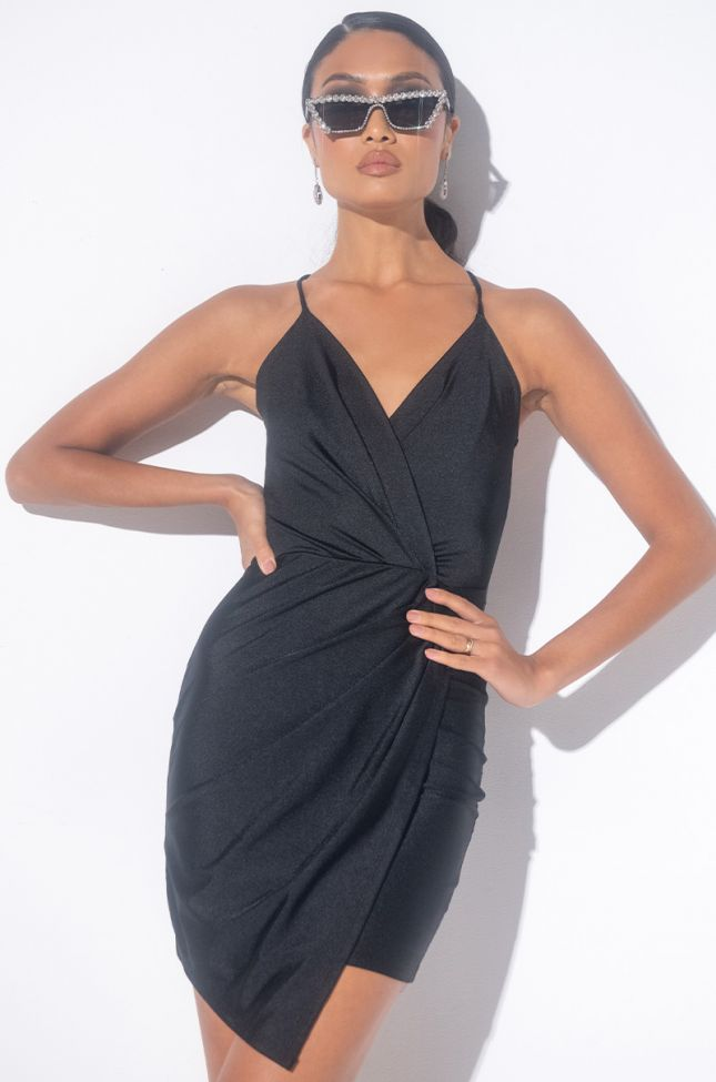 Front View I Could Never Mini Tank Dress in Black