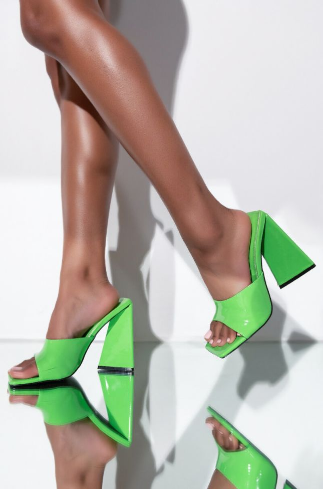Front View I Want It All Chunky Sandal