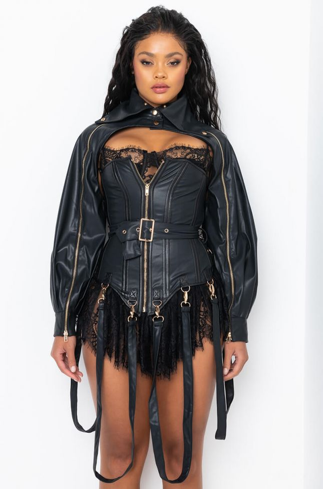 Full View Its The Details For Me Pu Corset And Jacket