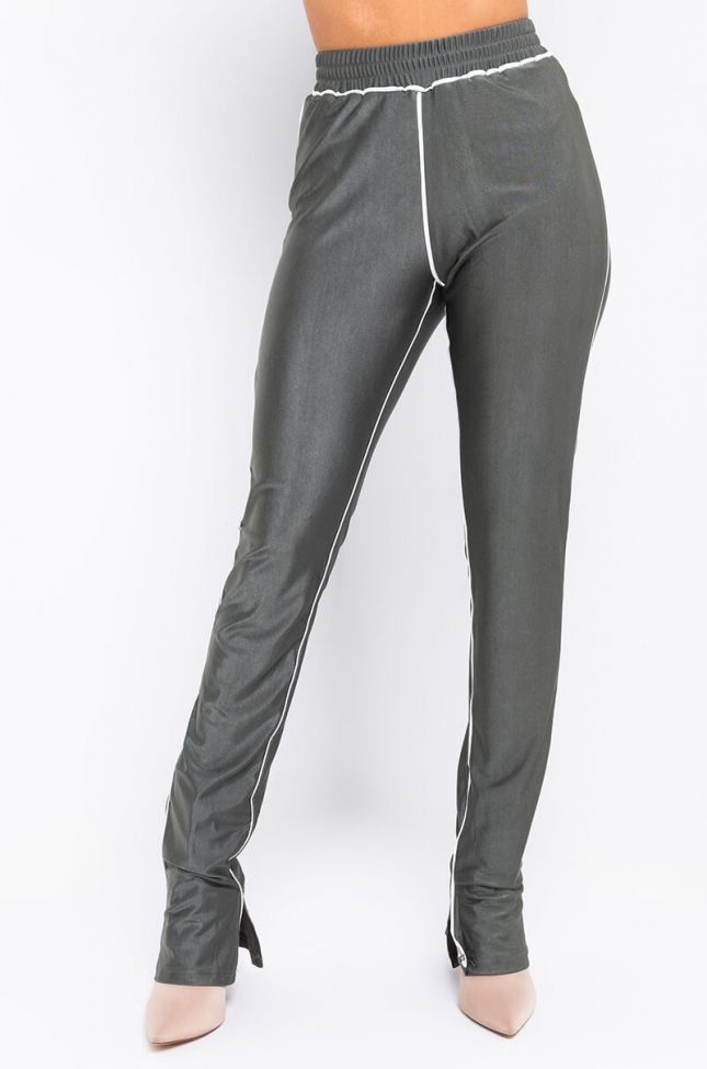Front View Jokes On You Boo Mini Slit Legging in Olive