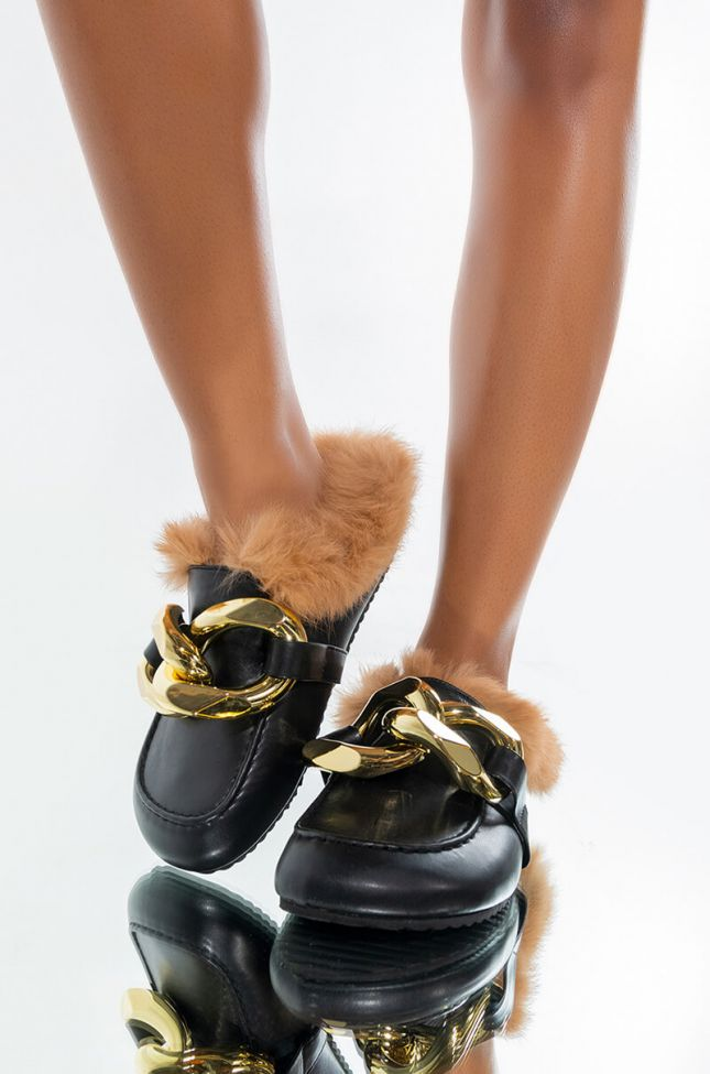 Front View Jump Right In Open Back Loafer In Black