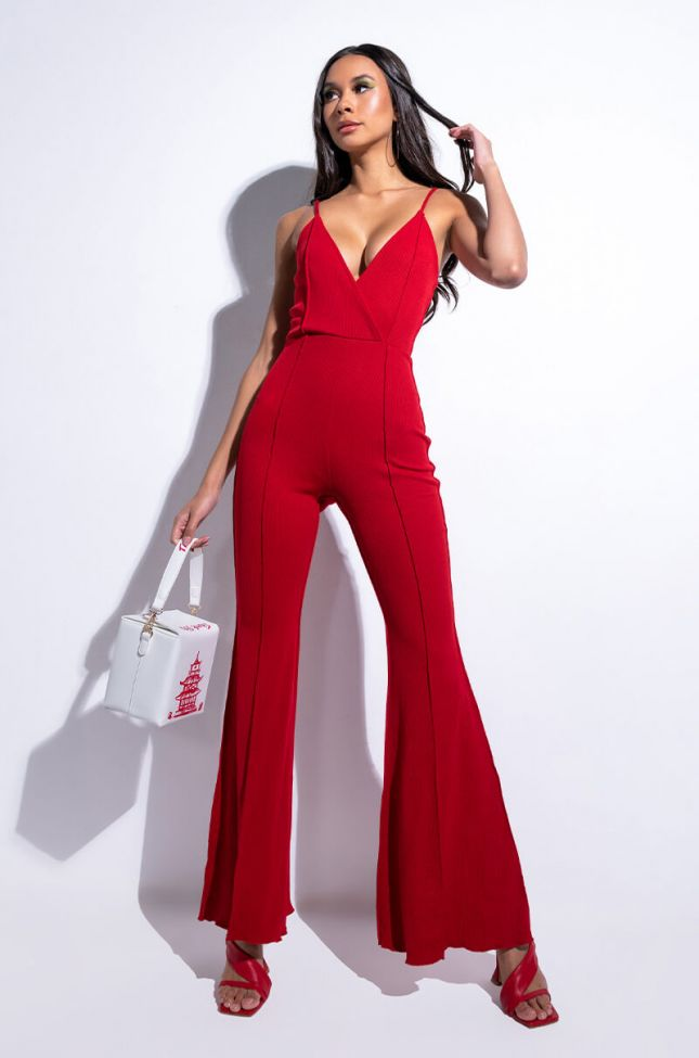 Front View Just Like That Wide Leg Jumpsuit