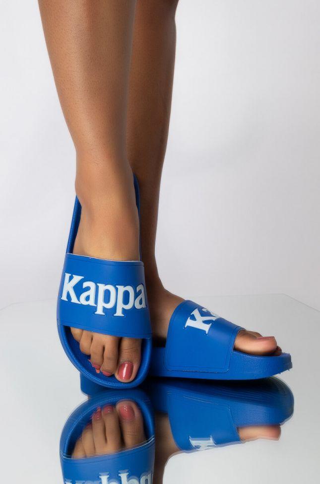 Front View Kappa 222 Banda Adam 16 Slide in Blue