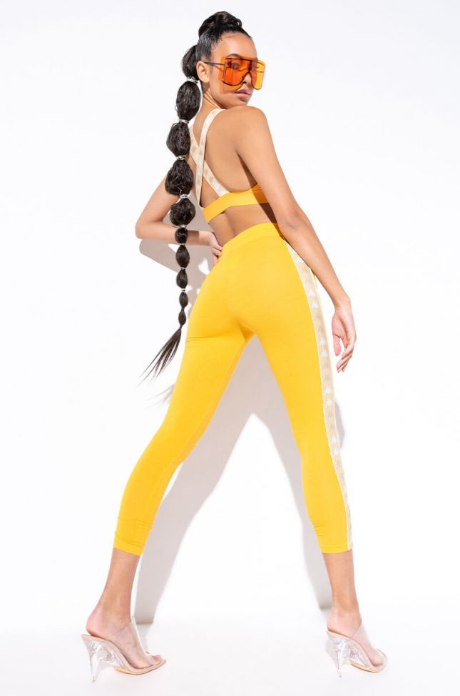 Kappa Womens 222 Banda Baldhill Legging in Mustard
