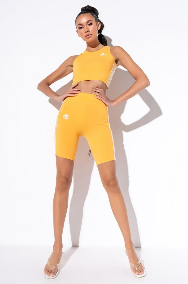 Kappa Womens 222 Utuado Biker Short in Mustard