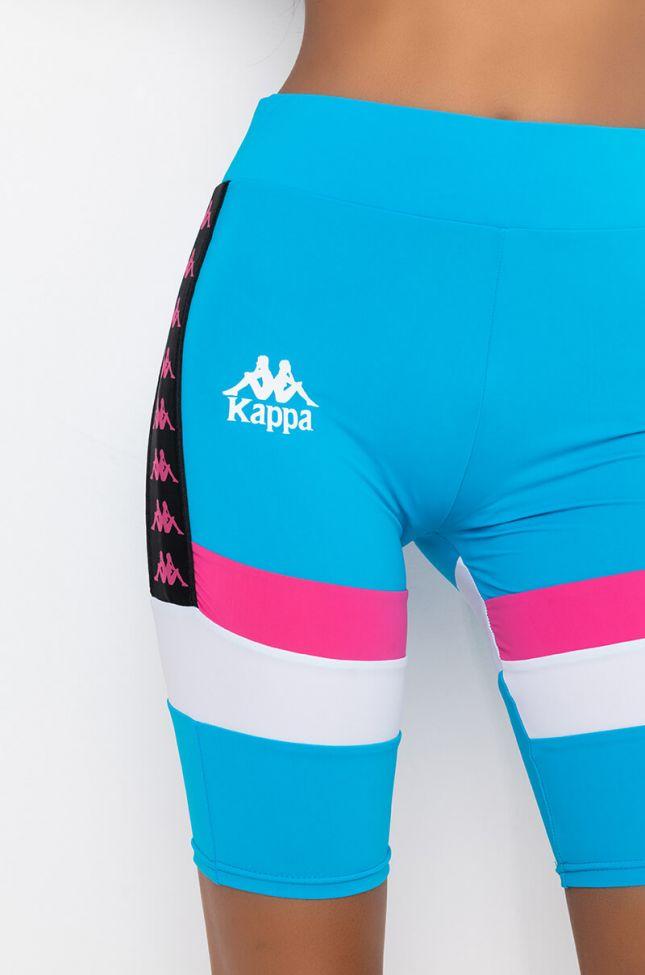 Detail View Kappa Womens 90s Lampung Biker Short in Light Blue