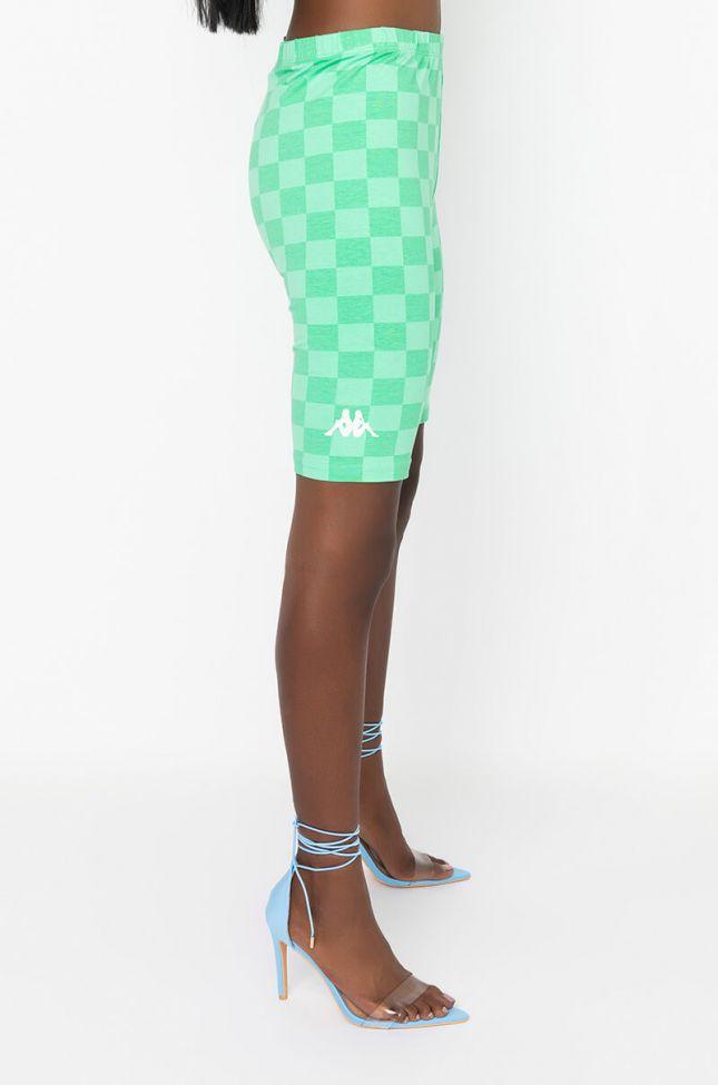 Side View Kappa Womens Emiaza Biker Short in Green