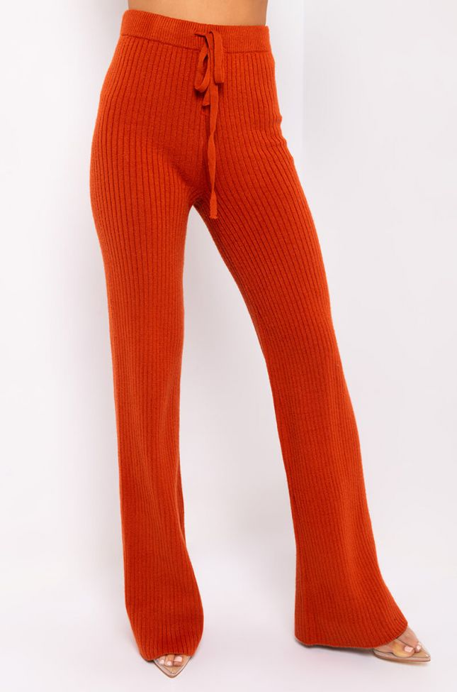 Front View Lady Danger Casual Pants in Rust