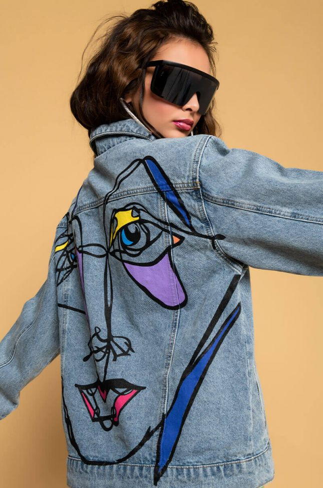 Lady Lay Boyfriend Denim Jacket in Light Blue Denim