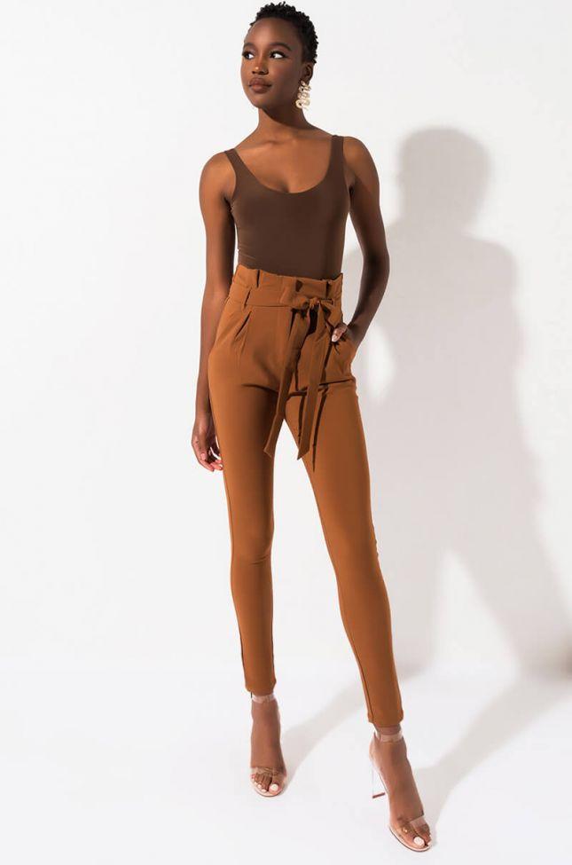 LALA HIGH WAIST PAPER BAG PANTS