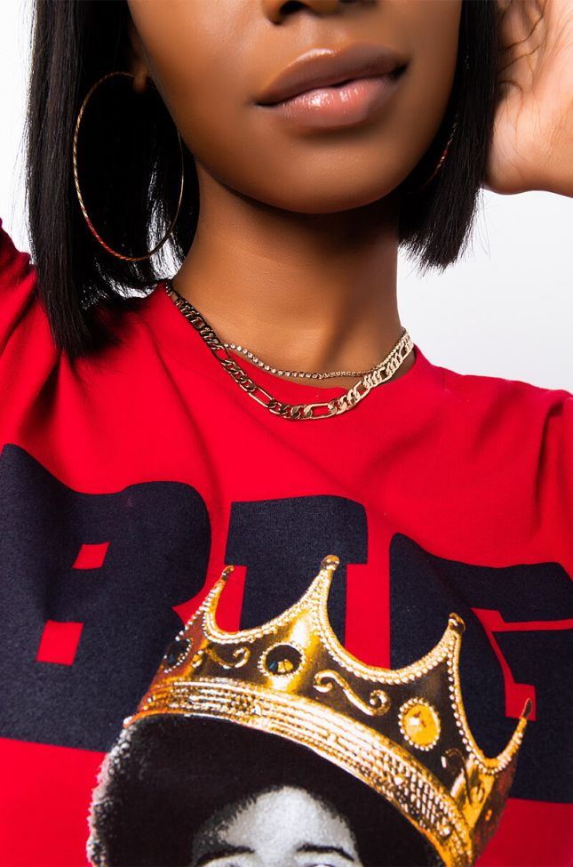 Front View Lawless Two Layer Choker in Gold