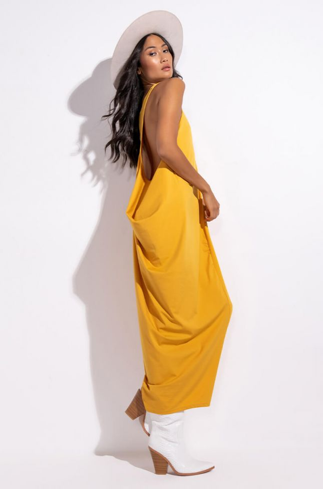 Side View Lay It On Me Maxi Dress With Oversized Armhole