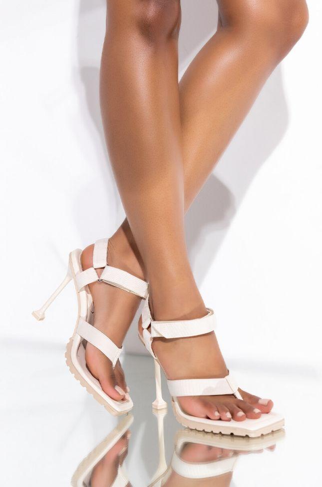 Front View Let It Go Stiletto Sandal