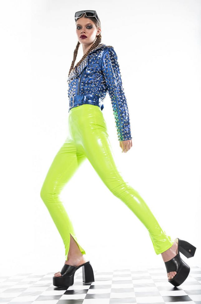 LOST IN THE LIGHT NEON SKINNY PANT