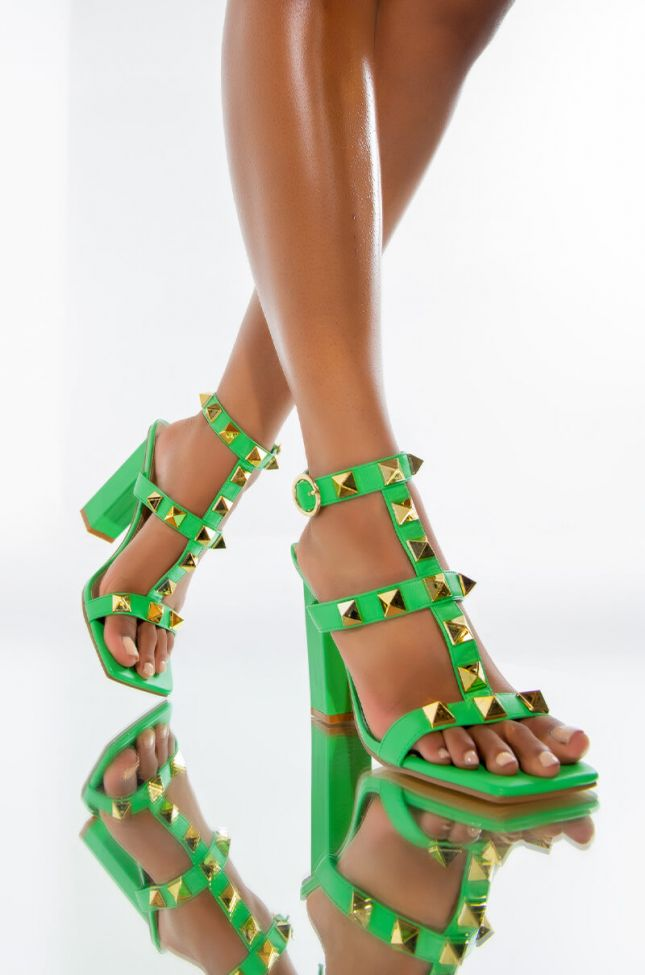 Front View Love Locked Down Chunky Sandal