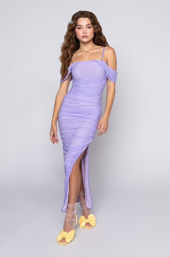 Side View Loving Me Is Easy Midi Off The Shoulders Dress