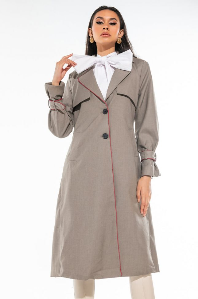MADEMOISELLE PLEATED TRENCH