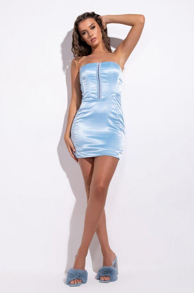 Extra View Make em Talk Corset Mini Dress