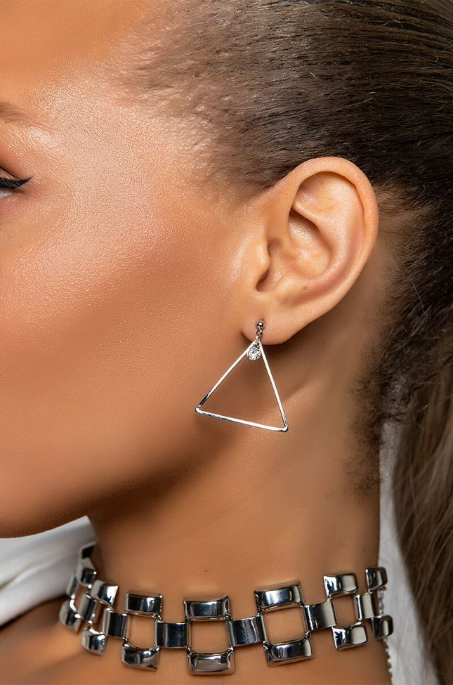 Front View Make It Nasty Earring Stud Set in Silver