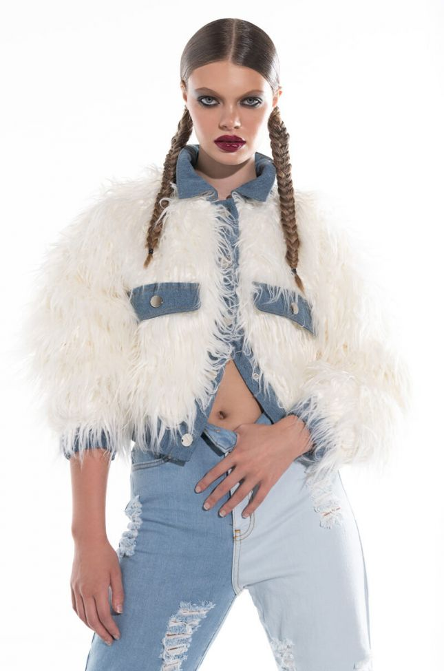 Front View Make Me The One Faux Fur Jacket