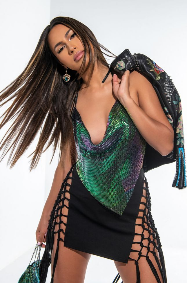 Front View Miami Callin Chainmail Top