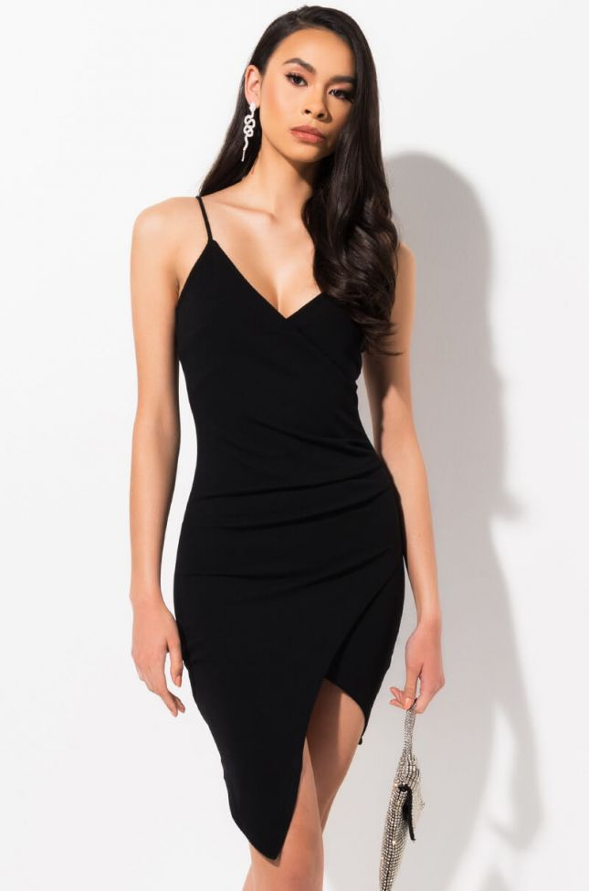 MICHELLE RUCHED SIDE DRESS