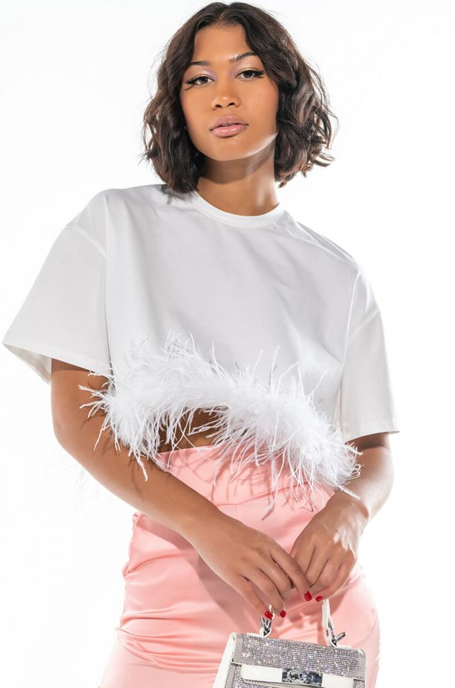 Front View More Than A Cameo Feather T Shirt