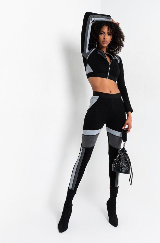 Need You Sporty Legging in Black Multi