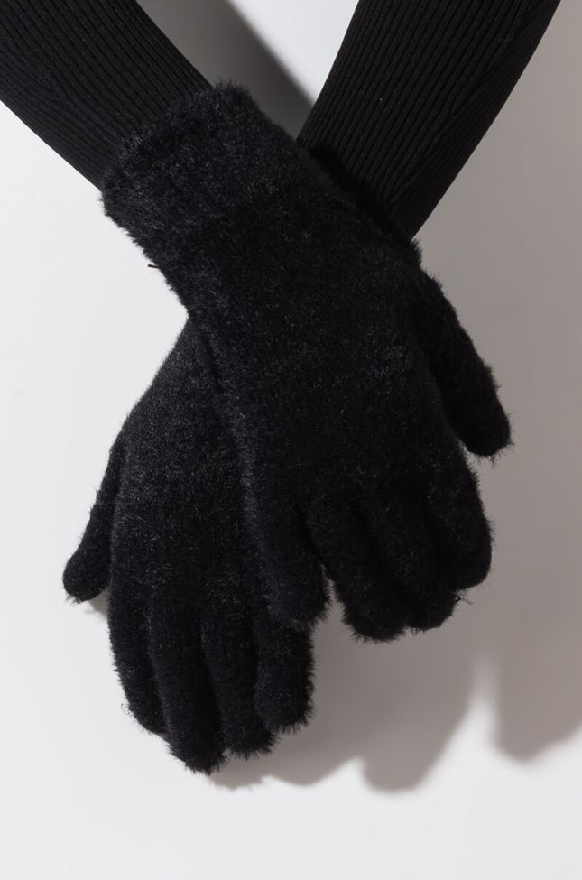 Front View New School Touch Screen Glove in Black