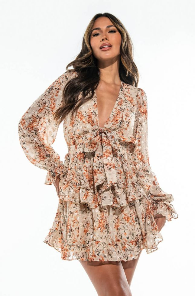 Front View New To You Mini Floral Dress