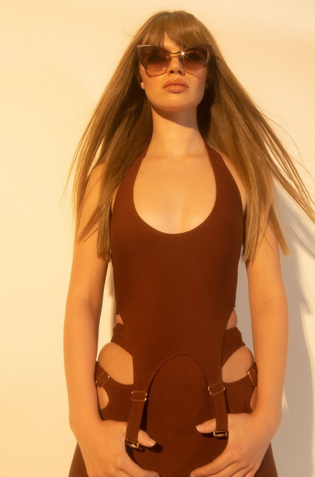 Front View No Competition Bandage Halter Top